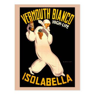 Vintage Retro Italian vermouth advertising Postcard