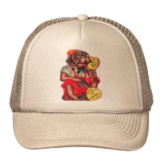 Vintage Retro Kitsch 30s Valentine Chimp Dear Do Cap