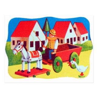 Vintage Retro Kitsch 30s Wood Toy Children s Art Postcards