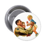 Vintage Retro Kitsch 40s Welcome Home Daddy Pinback Button