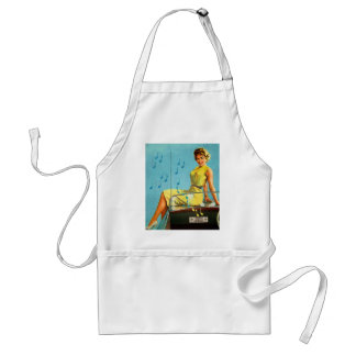 Vintage Retro Kitsch 50s Rock and Roll Radio Adult Apron