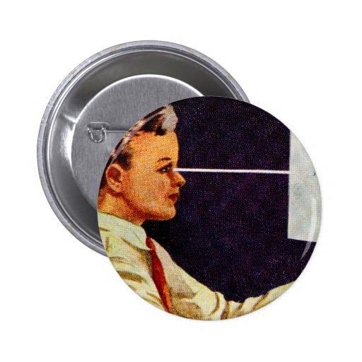 Vintage Retro Kitsch 50s Science Book Vision Eye Pins