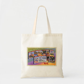Vintage Retro Kitsch Myrtle Beach SC Postcard Tote Bag