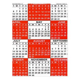 Vintage Retro Kitsch Pop Art 365 Calendar Postcard