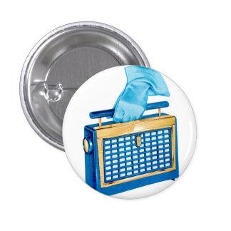 Vintage Retro Kitsch Portable Transistor Radio Pin