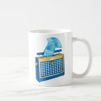 Vintage Retro Kitsch Portable Transistor Radio Coffee Mug