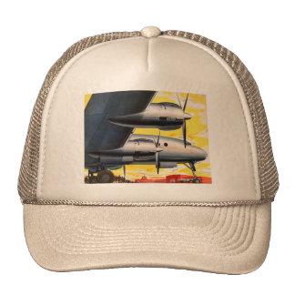Vintage Retro Kitsch Prop Airplane 60s Airliner Trucker Hat