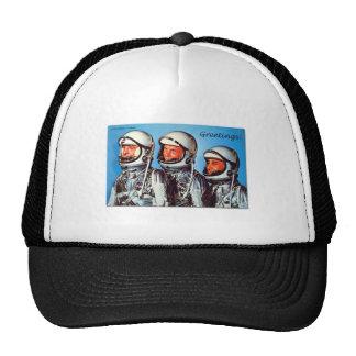 Vintage Retro Kitsch Sci Fi NASA Astronaut Card Cap