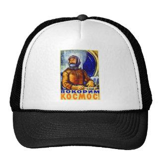 Vintage Retro Kitsch Soviet Cosmonaut Trucker Hat