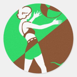 Vintage Retro Kitsch Surf Beach Ball Girl Sticker