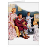 Vintage Retro Kitsch TV Original Family Hour Greeting Card