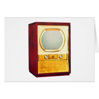 Vintage Retro Kitsch TV Television Set Greeting Card