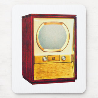 Vintage Retro Kitsch TV Television Set Mouse Pad