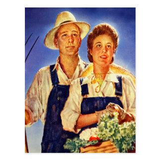 Vintage Retro Kitsch War Poster Mr & Mrs Farmers Post Cards