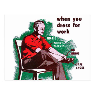 Vintage Retro Kitsch Work Safety Starts Poster Postcard