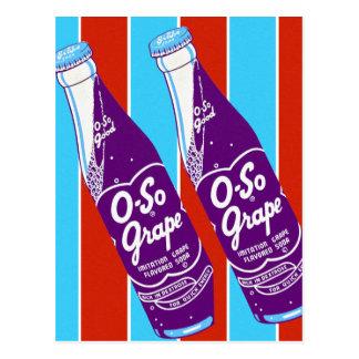 Vintage Retro Ktsch Beverages Oh-So Soda Bottle Postcard
