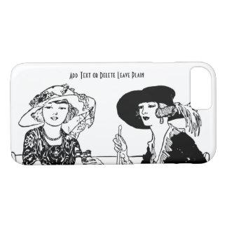 Vintage Retro Ladies Black White 1920s Fashion iPhone 7 Case