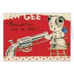 Vintage Retro Macabre Suicide Puppy Valentine Card