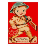 Vintage Retro Marching Soldier Valentine Card