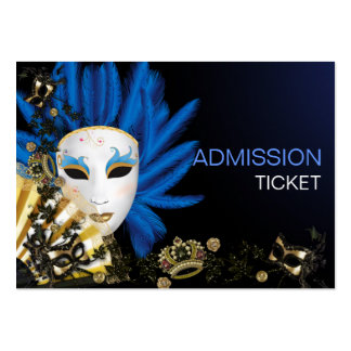 Vintage Retro Masquerade Party Admission Tickets Business Card Template