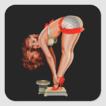 Vintage Retro Peter Driben Pinup Girl on Scale Sticker