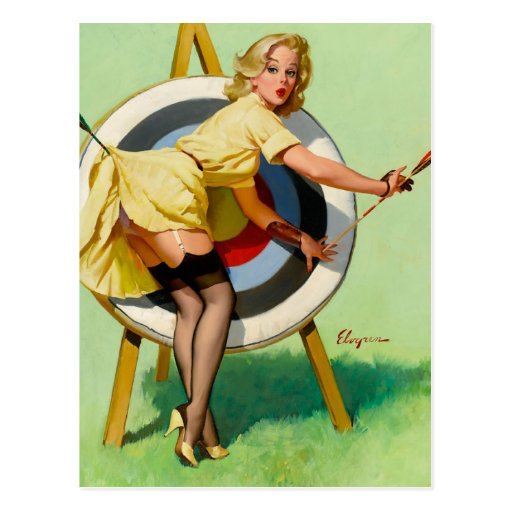 Vintage Retro Pinup Art Gil Elvgren Pin Up Girl Post Cards
