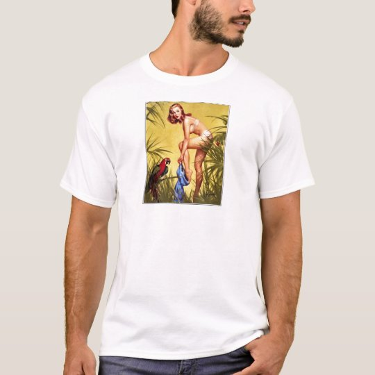 Vintage Retro Pinup Art Gil Elvgren Pin Up Girl T-Shirt