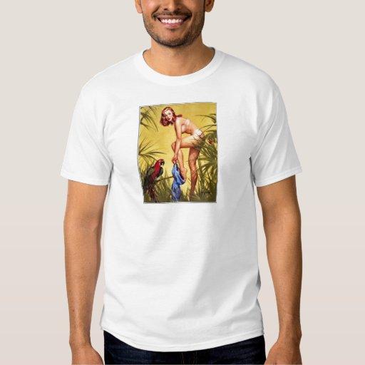 Vintage Retro Pinup Art Gil Elvgren Pin Up Girl T Shirts