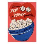 Vintage Retro Popcorn Valentine Cards