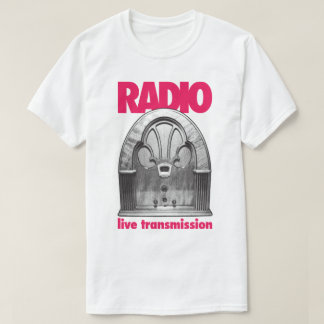 Vintage Retro Radio Live Test Transmission T-Shirt