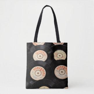 Vintage Retro Record Tote Bag
