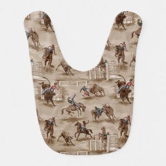 Vintage Retro Rodeo Western Cowboy Baby Bib