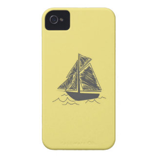 Vintage Retro Sail Boat  Pattern iPhone 4 Case