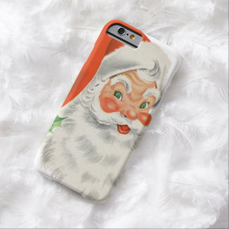 Vintage Retro Santa Claus Barely There iPhone 6 Case