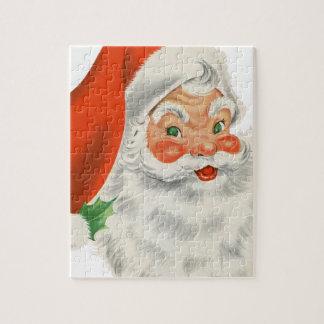 Vintage Retro Santa Claus Puzzle