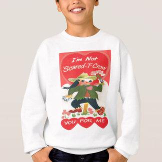 Vintage Retro Scarecrow Valentine Card Sweatshirt