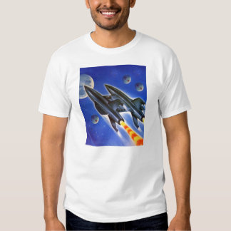 Vintage Retro Sci Fi Spaceship 'Three Earths' T-Shirt