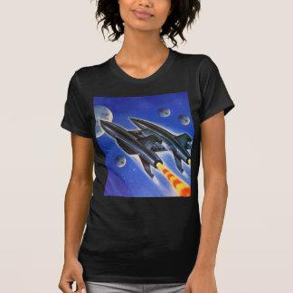 Vintage Retro Sci Fi Spaceship 'Three Earths' T-Shirt