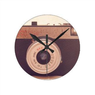 Vintage Retro Sepia Camera Wall Clocks