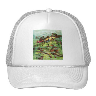 Vintage Retro Shark Attacks Saliors Hat