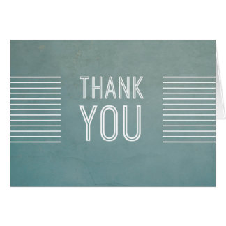 Vintage Retro Slate Blue Thank You Card