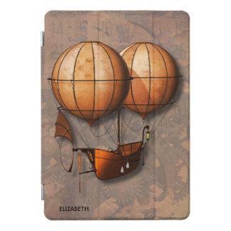 Vintage Retro Steampunk Air Balloon With Ship iPad Pro Cover