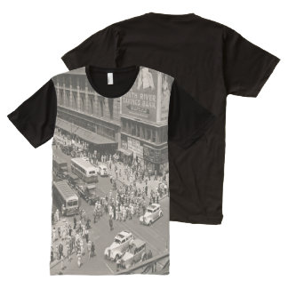 Vintage Retro Street All-Over Print T-Shirt