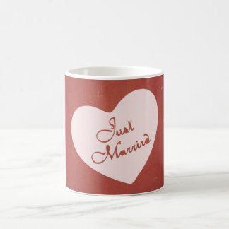 Vintage Retro Style Just Married On Antique Red Mug