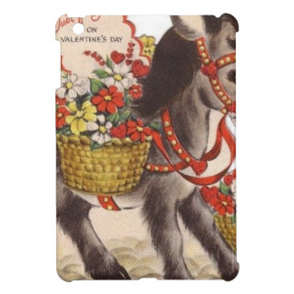 Vintage Retro Sweet Little Donkey Valentine's Day Cover For The iPad Mini