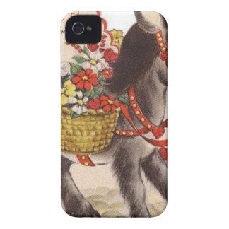 Vintage Retro Sweet Little Donkey Valentine's Day iPhone 4 Case-Mate Case