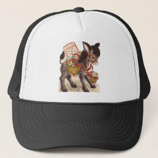 Vintage Retro Sweet Little Donkey Valentine's Day Trucker Hat