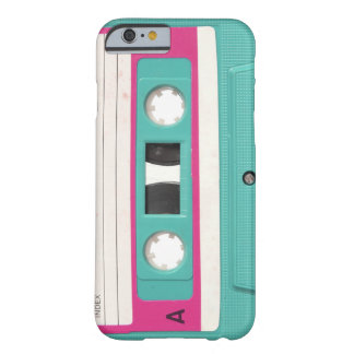 Vintage Retro Teal Audio Cassette Tape Barely There iPhone 6 Case