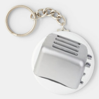 Vintage Retro Toaster Design - B&W Grey Key Ring