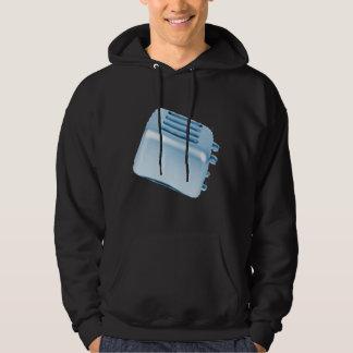 Vintage Retro Toaster Design - Blue Hooded Pullovers